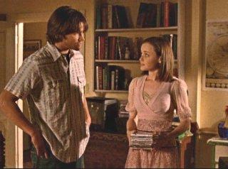 Una mamma per amica: Jared Padalecki e Alexis Bledel in una scena dell'episodio Prova generale