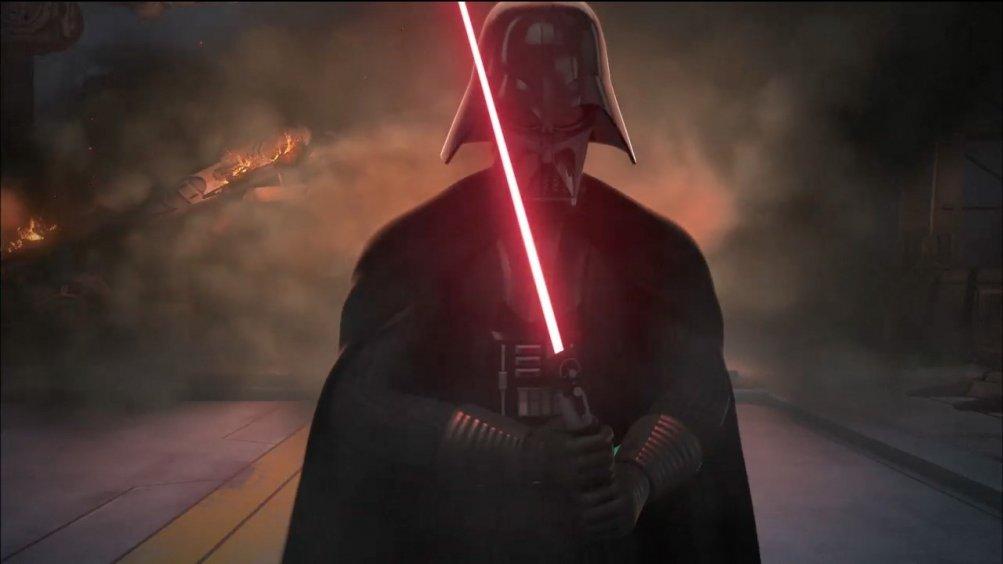 Star Wars Rebels: il temibile Darth Vader in un'immagine della seconda stagione