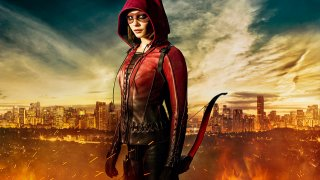 Arrow: un'immagine promozionale di Willa Holland nella stagione 4