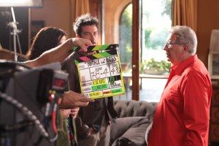 Natal col boss: Peppino di Capri e Paolo Ruffini in una foto dal set