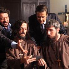 Natale col boss: Francesco Mandelli, Paolo Ruffini, Lillo e Greg in una simpatica immagine tratta dal film