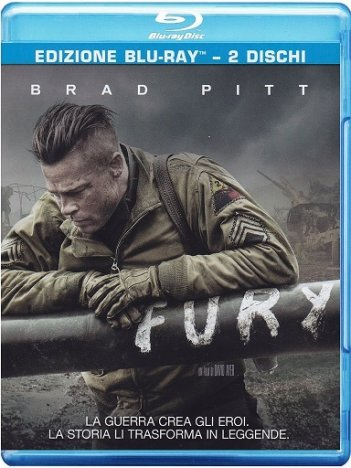 La cover del blu-ray di Fury