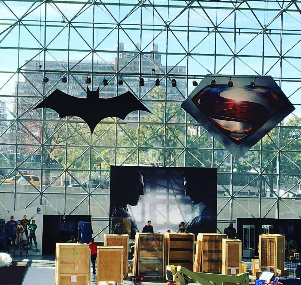 Batman v Superman: Dawn of Justice - ecco l'allestimento dedicato al film al New York Comic-Com