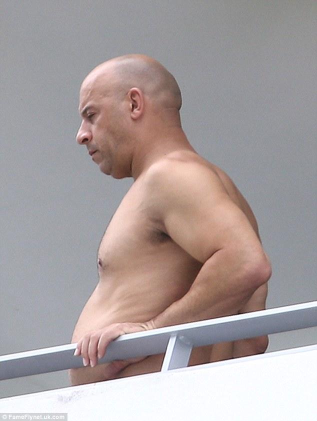 Vin Diesel nel 2015, fuori al balcone un po' appesantito nella linea