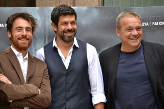 Suburra: Germano, Favino e Amendola durante la presentazione del film