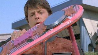 Ritorno al futuro 2: Michale J. Fox con l'hoverboard