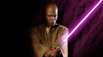 Samuel L. Jackson con spada laser