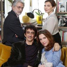 Dobbiamo parlare: Sergio Rubini, Isabella Ragonese, Fabrizio Bentivoglio e Maria Pia Calzone in un'immagine promozionale del film