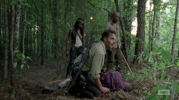 The Walking Dead: Danai Gurira, Andrew Lincoln e Lennie James in Come la prima volta