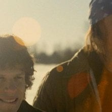 The End of the Tour: Jesse Eisenberg e Jason Segel in un momento del film