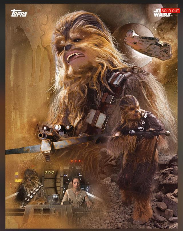 Star Wars: una delle carte Topps dedicate al film.