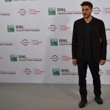 Roma 2015: Luca Marinelli al photocall di Lo chiamavano Jeeg Robot