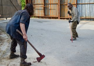 The Walking Dead: Lennie James in un momento dell'episodio JSS