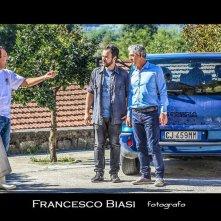 Effetti indesiderati: un'immagine dal set con Biagio Izzo e Massimiliano Gallo