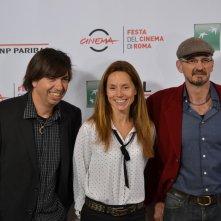 Roma 2015: Cyril Barbançon e Andy Byatt posano con la produttrice al photocall di Hurricane