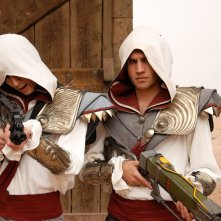 Game Therapy: Favij e Federico Clapis in costume da Assassin's Creed nel film