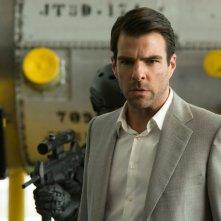 Hitman: Agent 47, Zachary Quinto in un'immagine del film