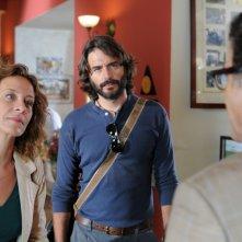 I misteri di Laura: Carlotta Natoli e Daniele Pecci in una scena