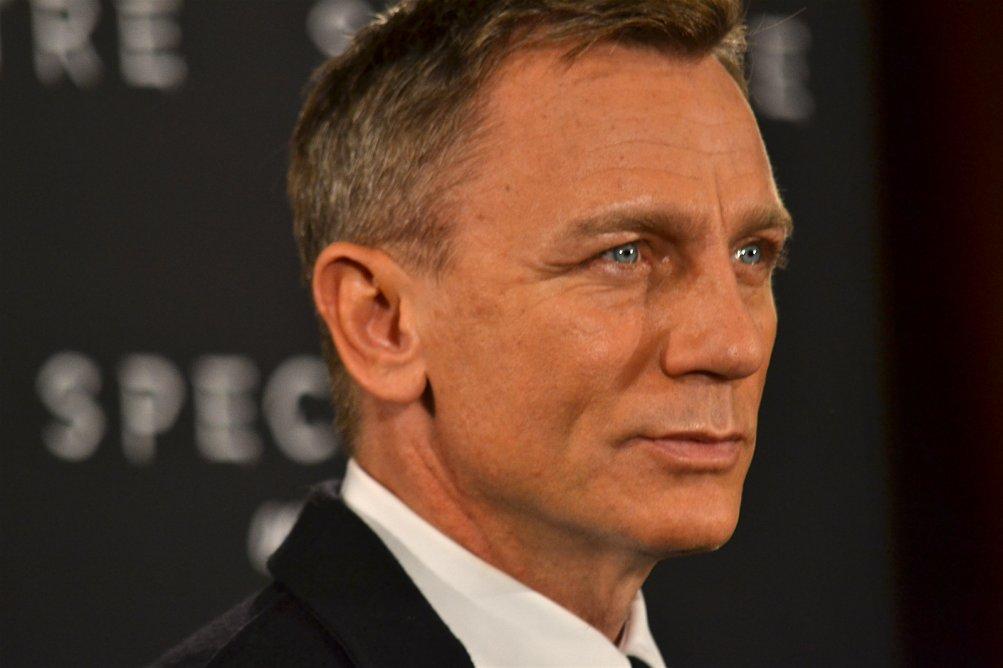 Daniel Craig in un primo piano al photocall di Spectre