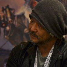 Un primo piano di Mamoru Oshii a Lucca Comics and Games 2015 per Garm Wars