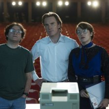 Steve Jobs: Michael Stuhlbarg, Michael Fassbender e Kate Winslet in una scena del film
