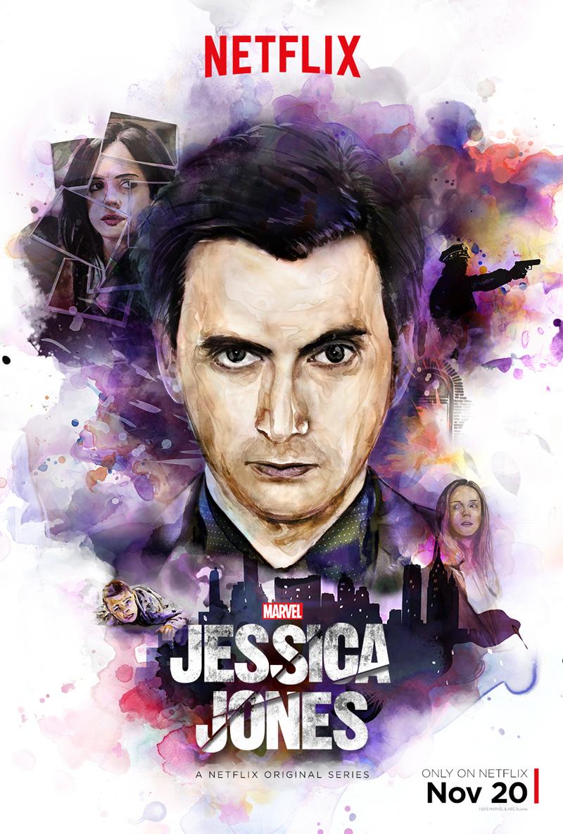 Jessica Jones: la locandina dedicata a David Tennant