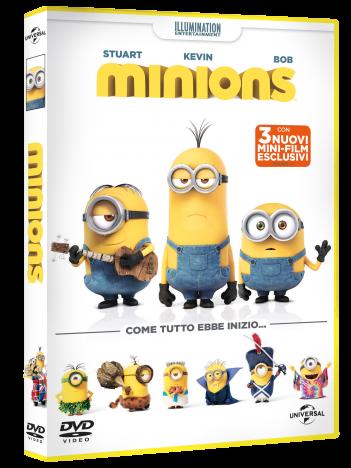 Minions: il packshot del DVD