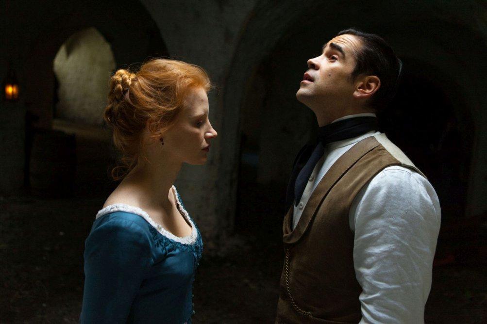 Miss Julie: Jessica Chastain e Colin Farrell in una scena del film