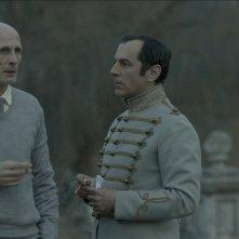 Under Electric Clouds: Merab Ninidze in compagnia di un altro attore in una scena del film