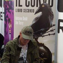 James O'Barr allo stand Edizioni BD di Lucca Comics & Games
