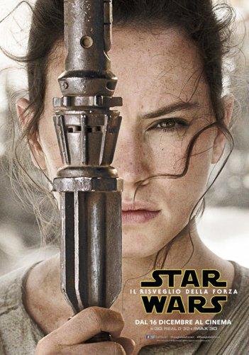Star Wars: Il risveglio della forza, character poster di Daisy Ridley