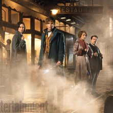 Fantastic Beasts and Where to Find Them: Katherine Waterston, Eddie Redmayne, Alison Sudol e Dan Fogler