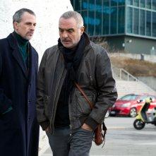 Uno per tutti: Fabrizio Ferracane, Giorgio Panariello e Thomas Trabacchi in una scena del film