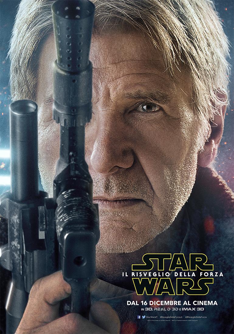 Star Wars: Il risveglio della Forza, character poster di Harrison Ford