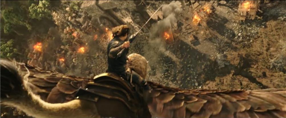 Warcraft - L'inizio: attacco voltante dal trailer del film