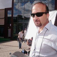 Daniele Poli al lavoro sul set
