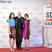 Lea: Vanessa Scalera, Marco Tullio Giordana e Linda Caridi al photocall del Roma Fiction Fest