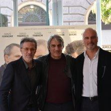 Mimmo Calopresti, Giorgio Panariello al photocall di Uno per tutti
