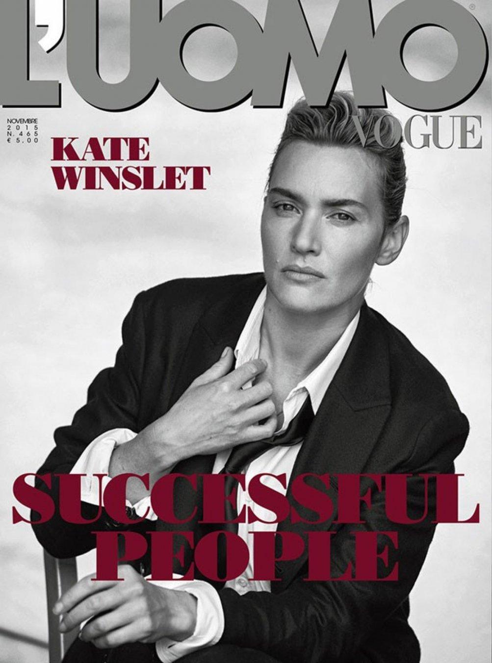Kate Winslet fotografata da Lindbergh per L'Uomo Vogue