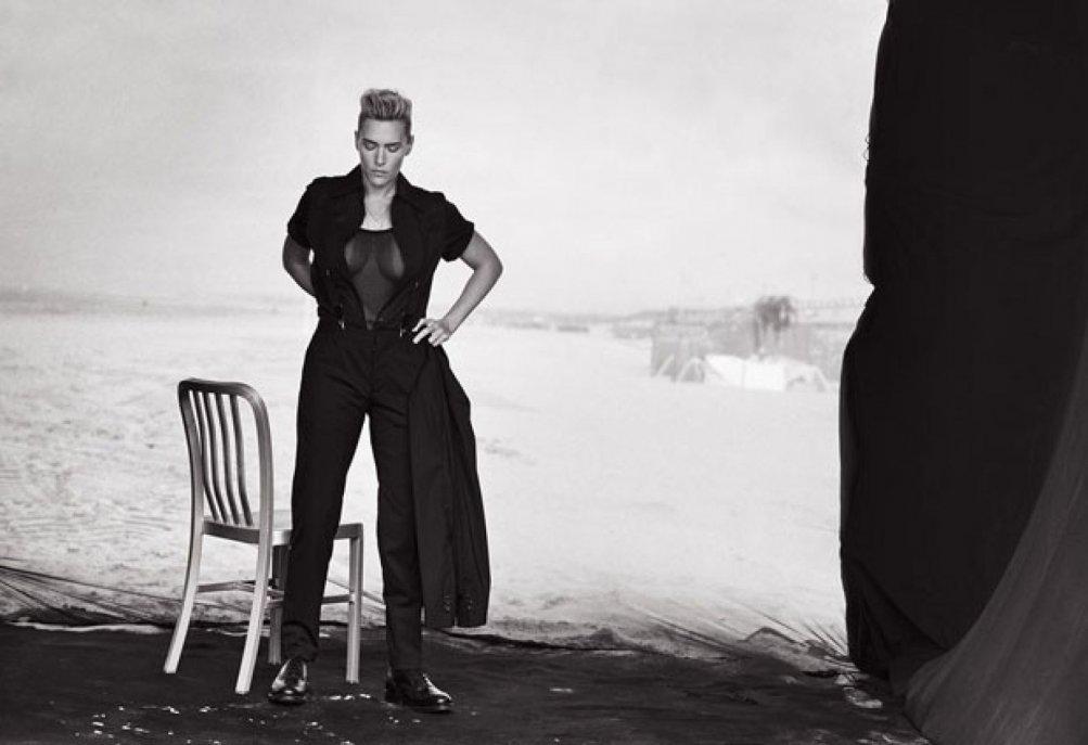 Una sexy Kate Winslet fotografata da Lindbergh per L'Uomo Vogue