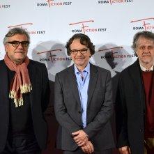Roma Fiction Fest 2015: Giancarlo de Cataldo, Andrea Porporati, Frank Spotnitz al photocall che ha preceduto la masterclass