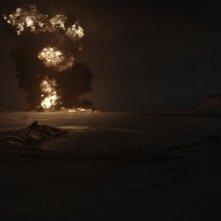 The Idealist: una scena del film con un esplosione