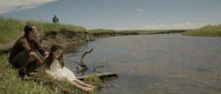 Lamb: Oona Laurence e Ross Partridge in una scena del film