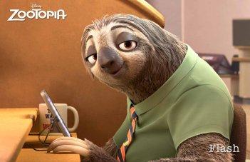 Zootropolis: un'immagine del bradipo Flash