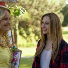 The Final Girls: Taissa Farmiga e Malin Akerman in una scena del film