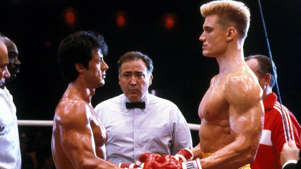 Rocky IV - Sylvester Stallone e Dolph Lundgren sul ring
