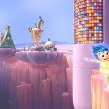 Una scena di Inside Out della Pixar