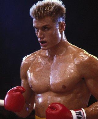 Rocky IV: Dolph Lundgren in una scena