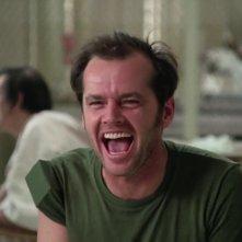 Qualcuno volo sul nido del cuculo: Nicholson in una scena del film