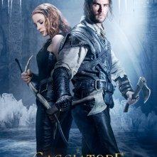 Il Cacciatore e la Regina di ghiaccio: il character poster con Jessica Chastain e Chris Hemsworth insieme